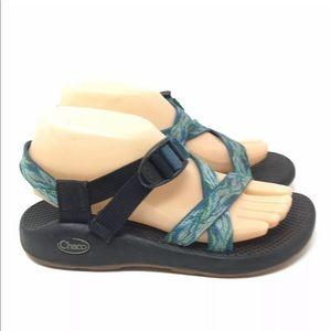 Chaco Women Size 7 Blue Multicolor Sandals Shoes